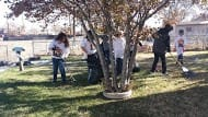 Students, family and friends of IntelliTec College of Pueblo increase their own community awareness and have fun at the same time Raking Up Pueblo