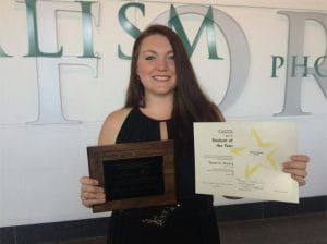 Congratulations Teaerra Moore on receiving the 2015 CACCS Student of the Year Award!