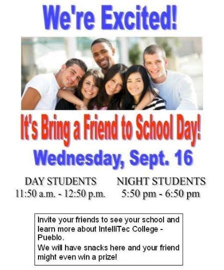 bring a friend to school day