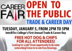 Grand Junction Area Trade & Career Fair - Open to the Public - Tuesday Jan 5 from 2-5pm at IntelliTec College at 772 Horizon Drive