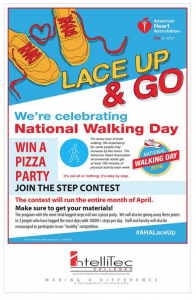 """All 4 IntelliTec College Campus Locations Participate in the American Heart Association's """"Lace Up Go"""" Walking Contest in April."""
