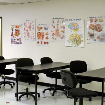 Medical Assistant small classroom settings in Colorado Springs provide current visual aids.