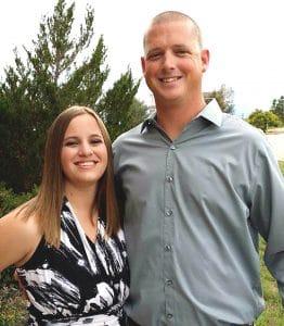 Refrigeration and HVAC Technician graduate Ryan Slusher with his wife Stephanie.