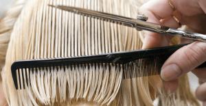 Cosmetology school hair stylist.