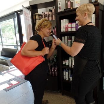 Student Cosmetologists learn and sell top name brand products.