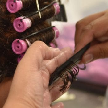 Cosmetology students get experience performing multiple services on actual clients at IntelliTec's full-service salon.