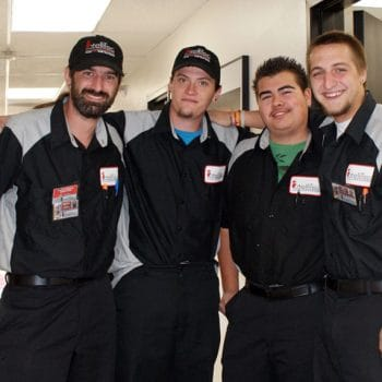 Grand Junction automotive students develop camaraderie when they gather between classes.