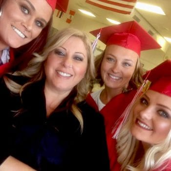 Cosmetology students put their skills to work so they look their best for graduation.