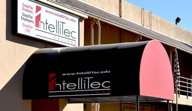 IntelliTec College's automotive training school entrance - Albuquerque, New Mexico