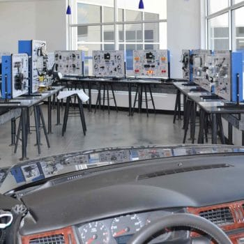 Automotive Technician students have the necessary equipment to train and learn on, in preparation for taking their ASE certification exams.