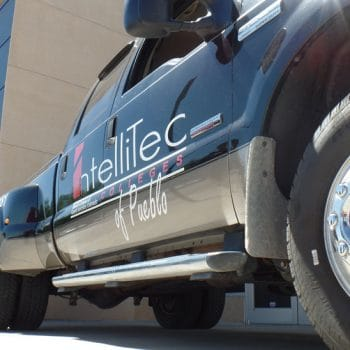 IntelliTec College automotive program has various vehicles to work on.