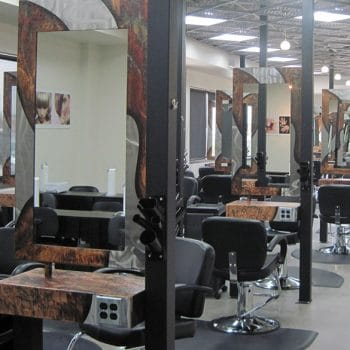 Pueblo's Cosmetology Salon's professional design give both the students and clients a full salon experience.
