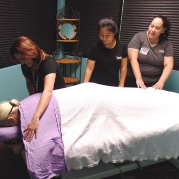 The student massage clinic allows Pueblo IntelliTec students to earn their hours working on clients in a professional atmosphere.