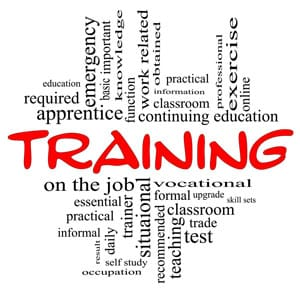 vocational training concept image with words