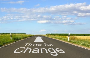 Time for Change - Road and pavement with arrow