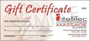 Gift Certificate - IntelliTec College Massage Clinic