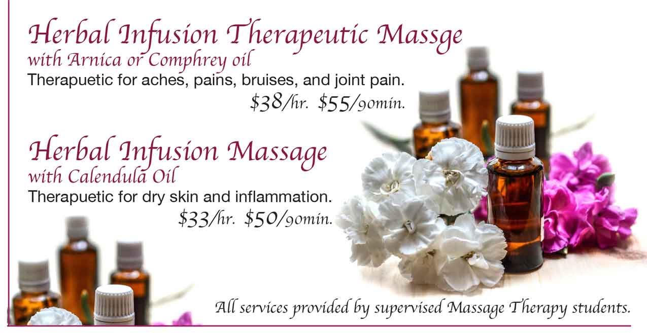 Herbal Infusion Massage Specials