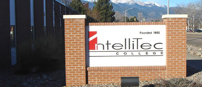 IntelliTec College Colorado Springs sign in front of school