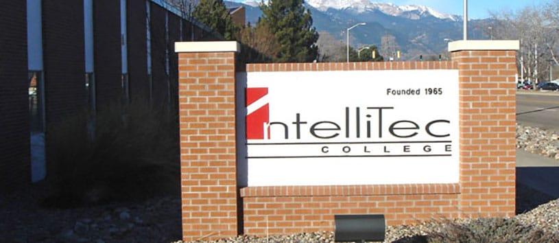 IntelliTec College Colorado Springs sign in front of school